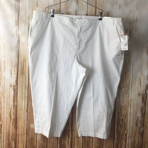 New white Capri Fashion Bug cotton pockets pants